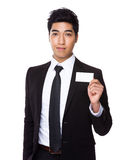 Businessman hold with namecard Stock Images
