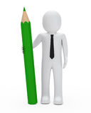 Businessman hold pencil Stock Image