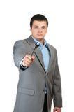 Businessman hold key Stock Image