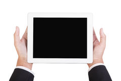 Businessman hold tablet Stock Photography