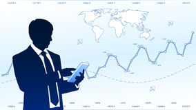 Businessman hold tablet computer Royalty Free Stock Images