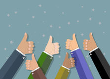 Businessman hold thumbs up Royalty Free Stock Photography