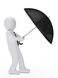 Businessman hold umbrella Stock Photography
