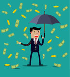 Businessman hold umbrella Royalty Free Stock Photos