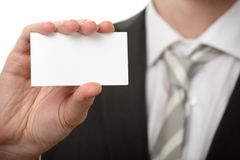Businessman hold visiting card Stock Image