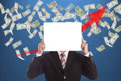 Businessman hold white blank Royalty Free Stock Images