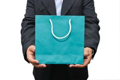 Businessman holding a bag Stock Photo