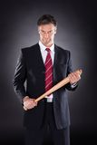 Businessman Holding Baseball Bat Stock Photos