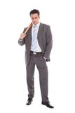 Businessman Holding Baseball Bat Royalty Free Stock Image