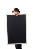 Businessman holding a blackboard. Stock Photography