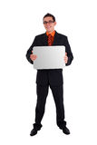 Businessman holding blank card Royalty Free Stock Image