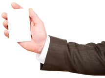 Businessman holding blank card Royalty Free Stock Photography