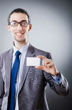 Businessman holding blank message Royalty Free Stock Photography
