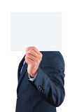 Businessman holding blank paper Royalty Free Stock Photo