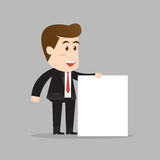 Businessman holding blank sign Royalty Free Stock Photos