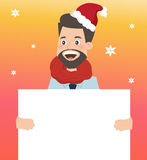 Businessman holding board for christmas. Businessman holding board for christmas Stock Photo