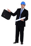 Businessman holding a briefcase Royalty Free Stock Photography