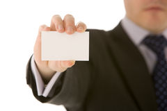 Businessman Holding Business Card Royalty Free Stock Images