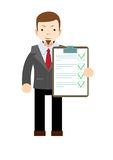 Businessman holding business contract and agreement paper Stock Photography