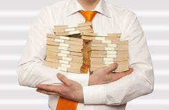 Businessman holding cash Royalty Free Stock Photos