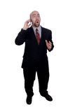 Businessman holding cell phone Stock Images