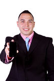 Businessman Holding a Cell Phone Stock Images