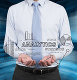 Businessman holding chart Royalty Free Stock Images