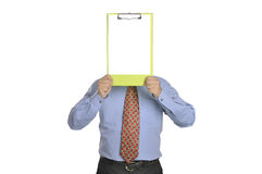 Businessman Holding Clipboard Stock Images