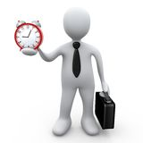 Businessman Holding A Clock. Computer Generated Image - Businessman Holding A Clock Stock Photos