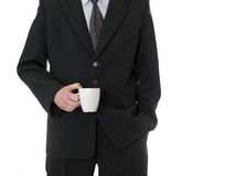 Businessman holding coffee cup Stock Photos