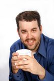 Businessman Holding Coffee Cup Stock Photo