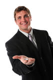 Businessman Holding Coins in Hand Stock Images