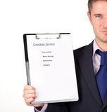 Businessman holding a customer service Royalty Free Stock Photo