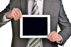 Businessman holding digital tablet, closeup Royalty Free Stock Photo