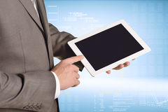 Businessman holding digital tablet, closeup Royalty Free Stock Photography