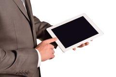 Businessman holding digital tablet, closeup Royalty Free Stock Image