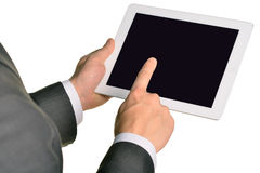 Businessman holding digital tablet, closeup Stock Photography
