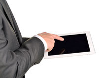 Businessman holding digital tablet, closeup Royalty Free Stock Photos