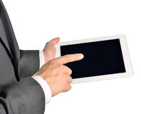 Businessman holding digital tablet, closeup Royalty Free Stock Image