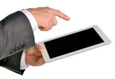 Businessman holding digital tablet, closeup Royalty Free Stock Photo
