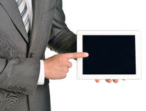 Businessman holding digital tablet, closeup Stock Image