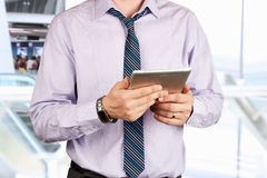Businessman holding a  digital tablet Royalty Free Stock Photography