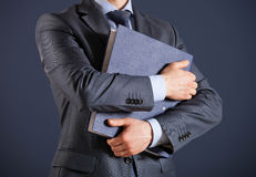 Businessman holding documents Stock Photography