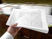 Businessman Holding Documents Royalty Free Stock Images