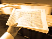 Businessman Holding Documents Spreadsheets Royalty Free Stock Photography