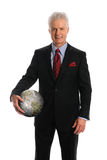 Businessman Holding Earth Stock Photography