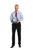 Businessman Holding Earth Royalty Free Stock Images