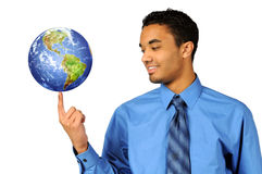 Businessman Holding Earth Royalty Free Stock Image