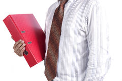 Businessman holding a folder Royalty Free Stock Photos