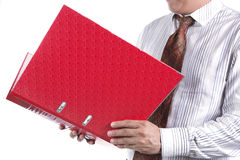 Businessman holding a folder Royalty Free Stock Photo